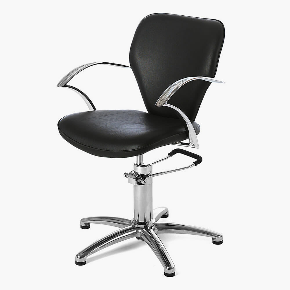 rem miranda hydraulic styling chair in black direct