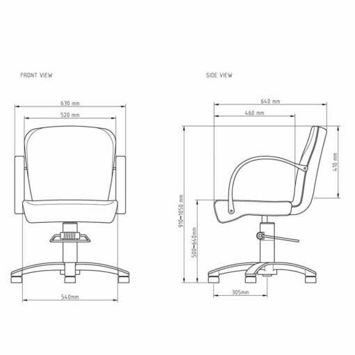 WBX Grande Hydraulic Styling Chair
