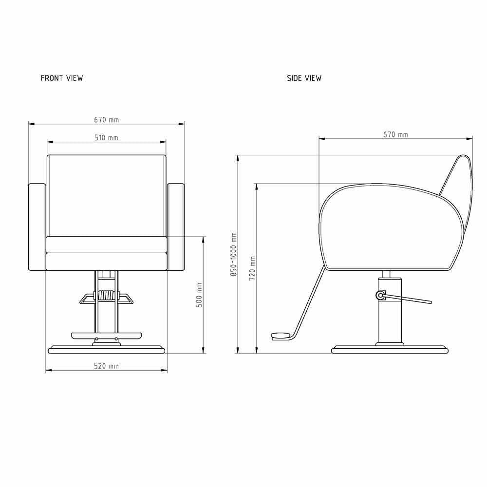 Wbx Karma Hydraulic Styling Chair Direct Salon Furniture