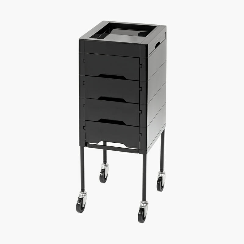 Secret black trolley direct salon furniture for Salon trolley