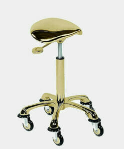 Rollercoaster Eccentric Gold Saddle Stool