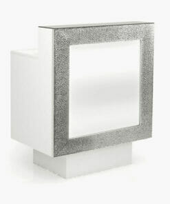 Nelson Mobilier Small Silver Reception Desk