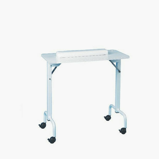 Skinmate folding manicure table direct salon furniture uk for Fold up nail table