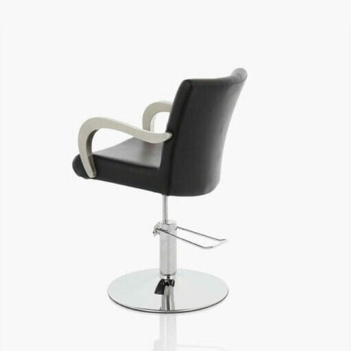 Venus hydraulic styling chair in black direct salon for A touch of elegance salon kauai