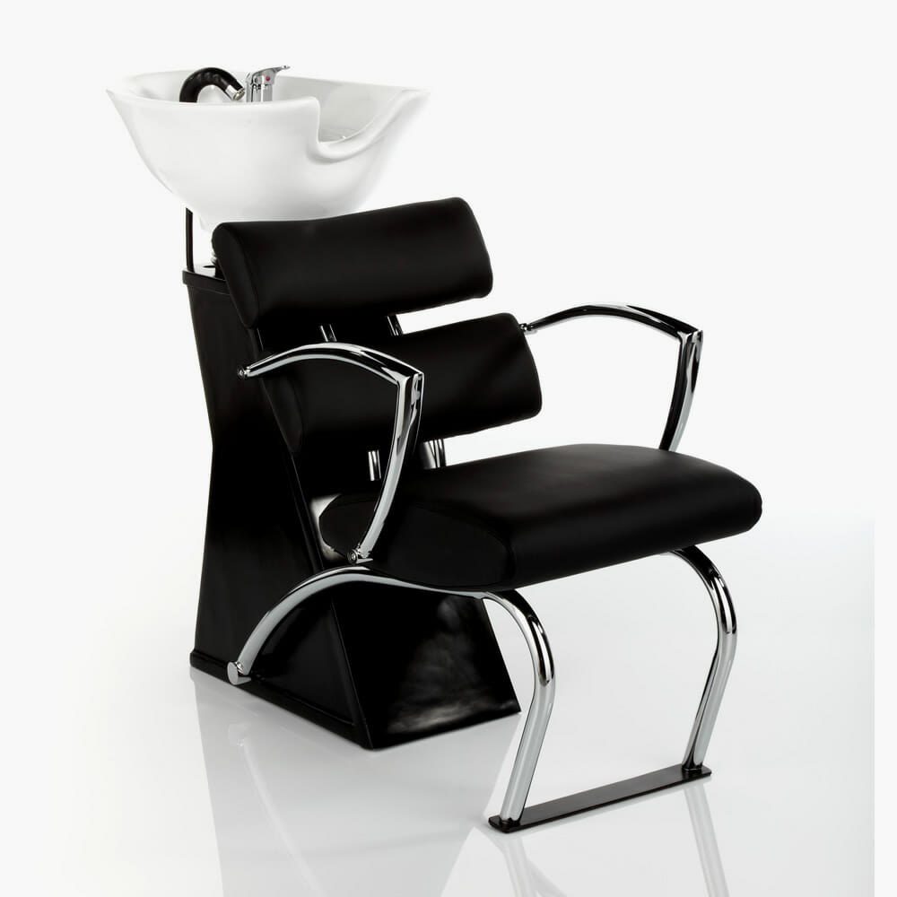 Antigua washpoint complete in black direct salon furniture for Salon complet but