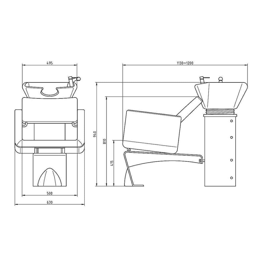 Washpoints Wbx 2000 Ubix Dimensions L Direct Salon Furniture