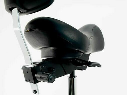WBX Ascot Saddle Stool With Backrest