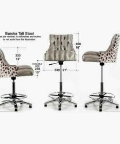 WBX Baroka Tall Stylists Stool